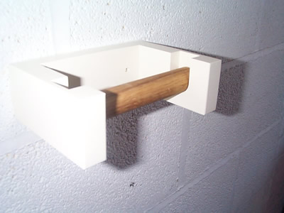 Classical Wall Mounted Loo Roll Holder in Off-White